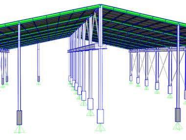 Warehouse Structure w/ 10 ton Overhead-Crane