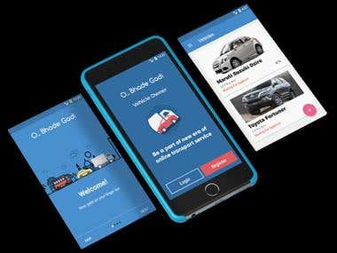 Android app to book vehicles for all your transport needs