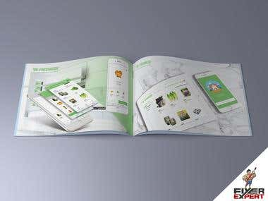 A4 landscape Brochure for an online store website