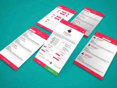Mockup/UI/UX Design
