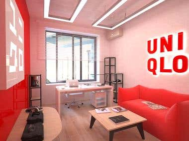 Design project of the office of UNIQLO creative director