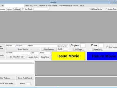 Movie Rental System Database