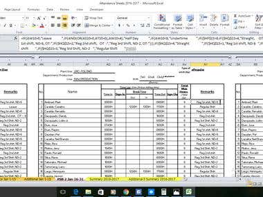 Filling in Employees Daily Time Record