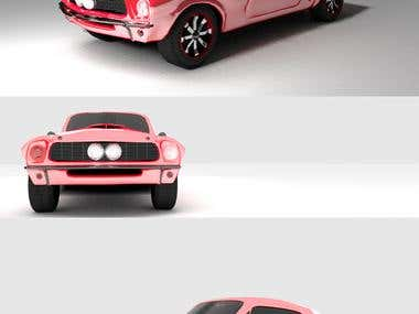 Modelado de Mustang gt