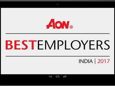 AON AR Augmented Reality App - AON Best Employers India 2017