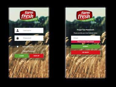 Farm Fresh E-Commerce App