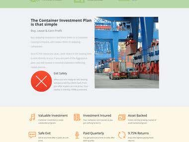 Container Investment Landing Page