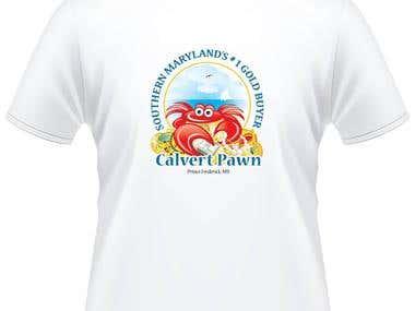 A winner entry for T-shirt design contest for Calvert Pown