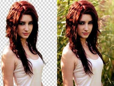 Background removal and photo resizing