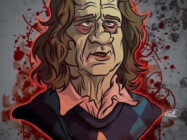 Bill Murray Zombie Illustration