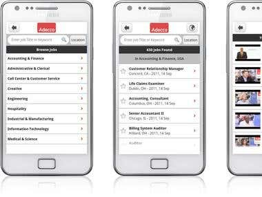 Adecco jobs Androis Apps