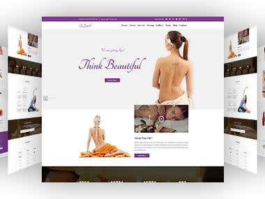 Beauty & Spa PSD Template