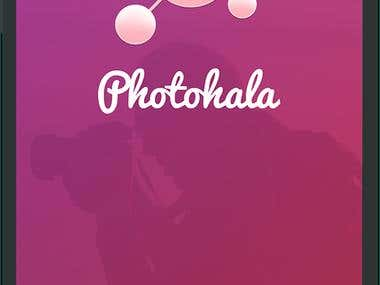 App Name : PhotoHala, Concept : Instagram.