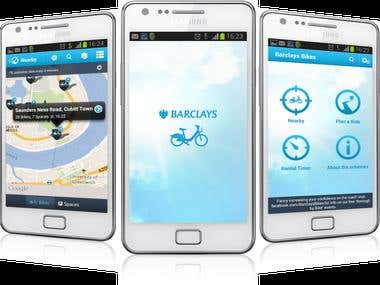 Barclays  Bikes Android App
