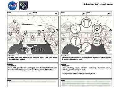 Storyboard for NASA