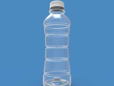 3D modeling of plastic bottle from 2D technical drawing