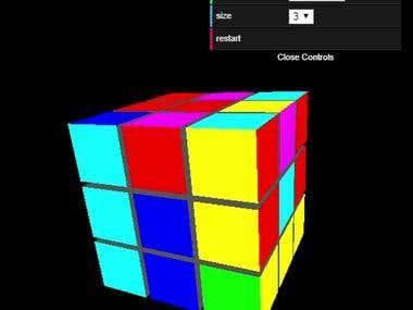 Rubki Cube - ThreeJS