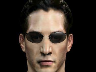 keanu reeves Matrix Character model