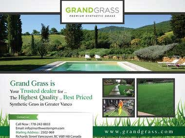 Ads Poster For Grand Grass