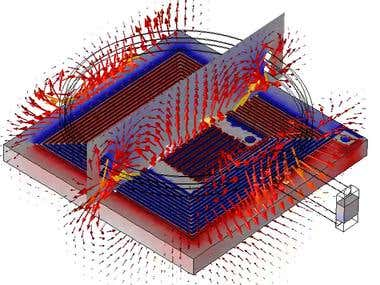 Electromagnetic field COMSOL