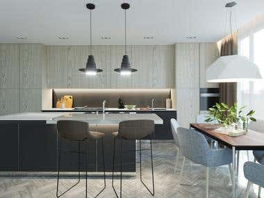 Design apartment design in a modern style.
