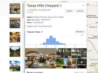 Find Information from Websites - Search the web for vineyard