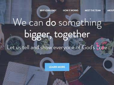 Design Coogodsloveproject using Bootstrap