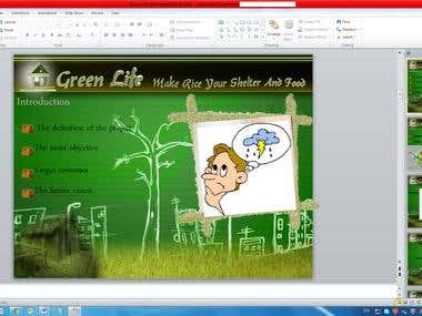 MS PowerPoint for my Project (Green Life)