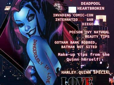 Harley Quinn Magazine Editing