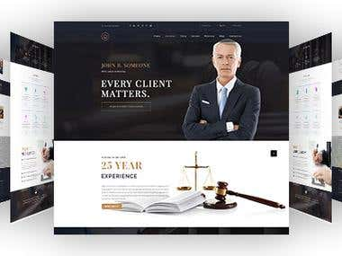 Lawyer PSD Template