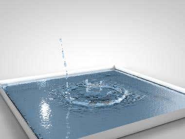 3D Fluid simulation in realflow