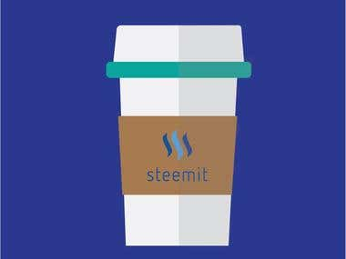 Steemit Cup Art
