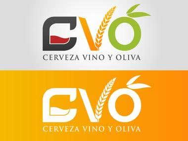 Diseño de logotipo para CVO Cerveza Vino y Oliva