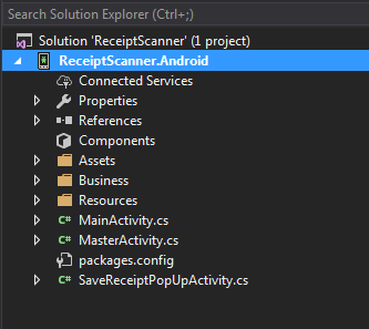Receipt Scanner in Android