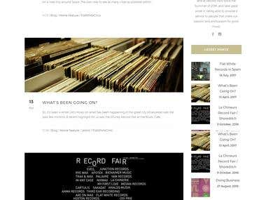 flatwhiterecords.co.uk Online Record Selling website