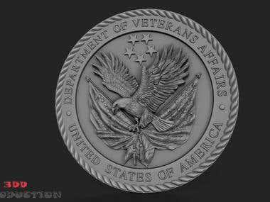 3d Printing Emblem Coin