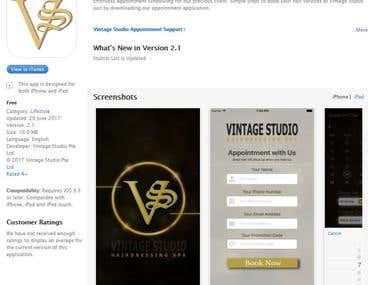 Vintage Studio Appointment