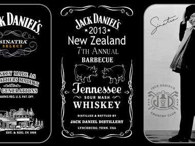 Miniature Bottle Label for New Zealand Jack BBQ