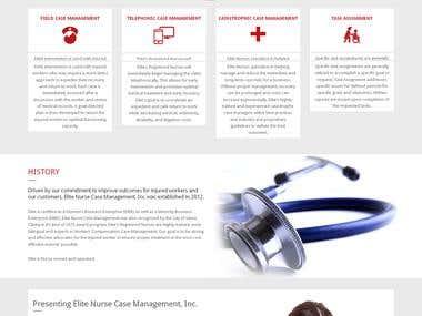 Wordpress site.