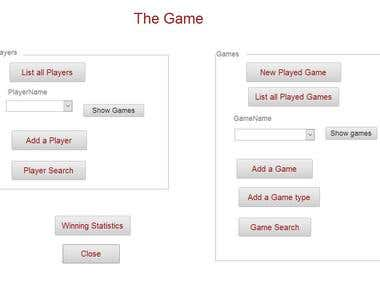 Microsoft Access Database system to keep track of the games