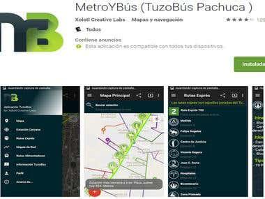 Aplicación en Android Metro&Bus Pachuca