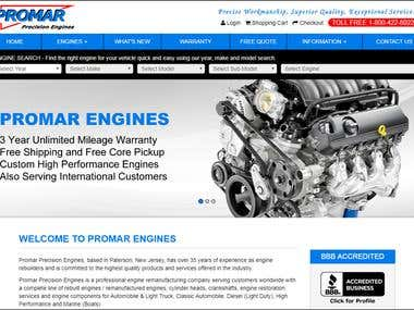 Promar Engines - Website Development