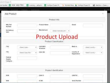 Product upploding any ecommerce website