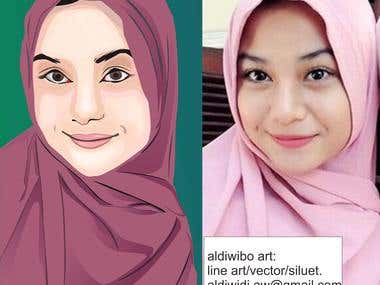 draw cartoon or lineart by your face