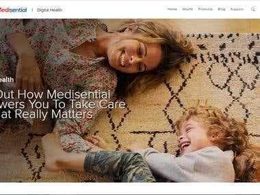 Shopify Online store https://medisential.myshopify.com