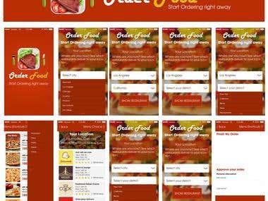 Ux/Ui App design - Order Food