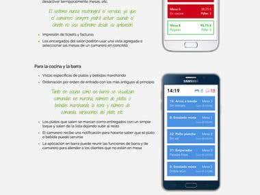 Restaurant order solution marketing website