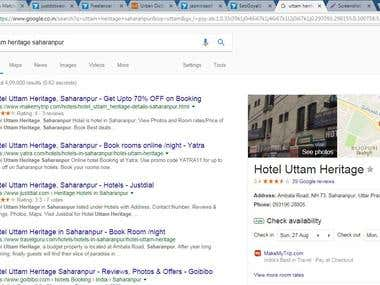 Google Business registration for Hotel uttam Haritage