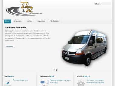 Site Locadora de Vans D&R Locadora de Vans