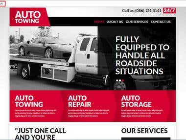 Joomla Towing Website